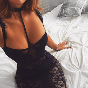 ULTRA LACE SEXY HALTER DRESS
