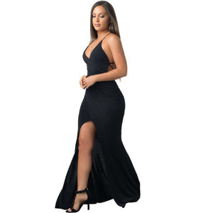 'BELOVED' MAXI BACKLESS SEXY DRESS