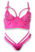 Hot Pink Longline Bra & Panty Set