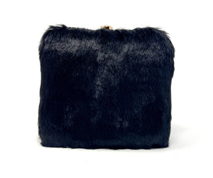 Square Faux Black Panther Fur