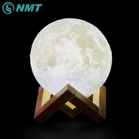 3D Print LED Moon Light Touch Switch LED Bedroom Night Lamp