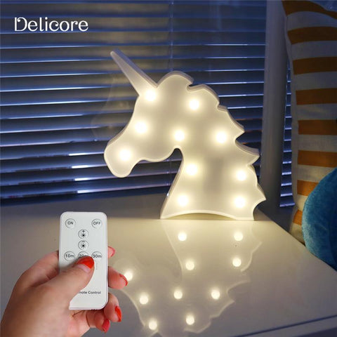 Lovely Marquee Animal Night Light With Remote Control For Baby Room Decorative