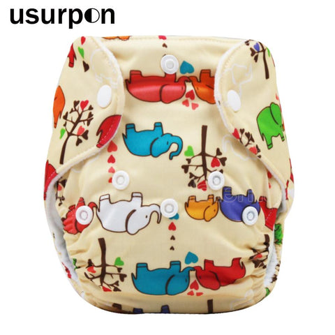 1 pc 0-3months Newborn diaper with printed animals pattern
