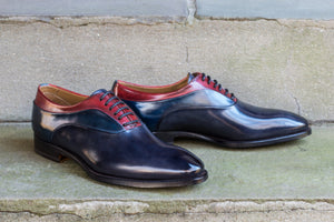 NAVY & INDIGO LEATHER OXFORDS