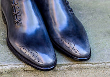 ANTIQUE GREY SIDE LACE OXFORDS