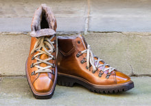 SHEARLING LINED HIKING STYLE BOOTS