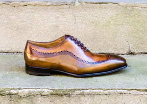 WHISKEY/OLIVE OXFORD STYLE SHOES