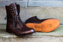 COPPER MILITARY STYLE DERBY BOOTS