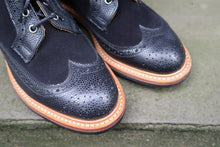 TRICKER'S BLACK LONG WING COUNTRY STYLE BOOTS