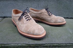 TRICKER'S BEIGE COUNTRY STYLE CAP TOE OXFORDS