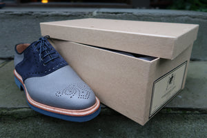 GREY SADDLE OXFORDS