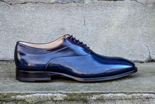 MIDNIGHT BLUE LEATHER OXFORDS