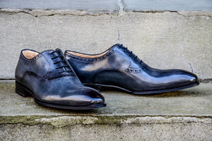 LIGHT GREY OXFORD STYLE SHOES