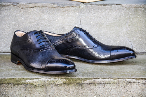 BLACK SADDLE OXFORD STYLE SHOES