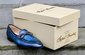 INDIGO BLUE BELGIAN LOAFERS