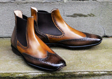 TWO TONE CHELSEA STYLE SPORT BOOTS