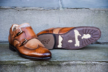 TWO TONE DOUBLE MONK STRAP