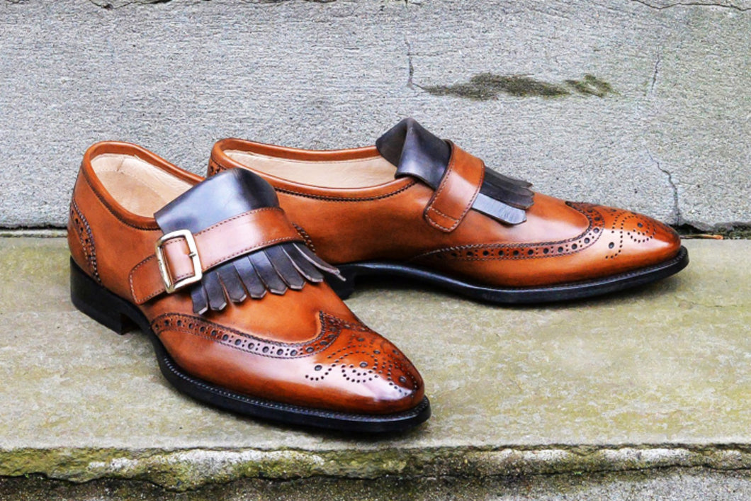 KILTIE TWO TONE MONK STRAPS