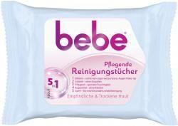 Bebe Young Care, 5 in 1 Pflegende Reinigungstücher, 25 er