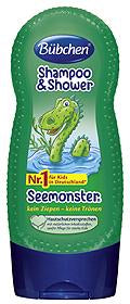 Bübchen, Shampoo + Shower Seemonster, 230 ml