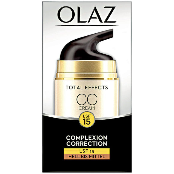 Olaz, Total Effects 7 in 1 Complexion Correction Cream (CC Cream) SPF 15, 50 ml - Olaz, Kem trị nám (CC Cream) Total Effects 7 in 1 SPF 15, 50 ml