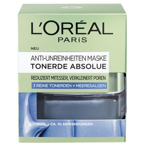 L'Oréal Paris, Skin Expert Maske Tonerde Absolue: Cleansing Mask, 50 ml