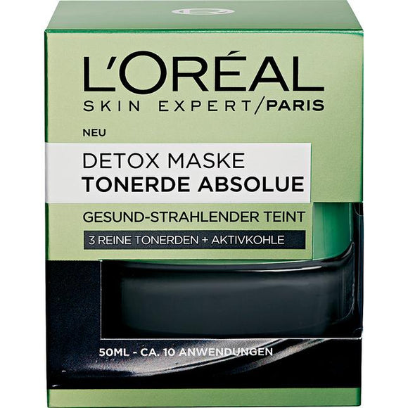 L'Oréal Paris, Skin Expert Maske Tonerde Absolue: Detox Mask, 50 ml