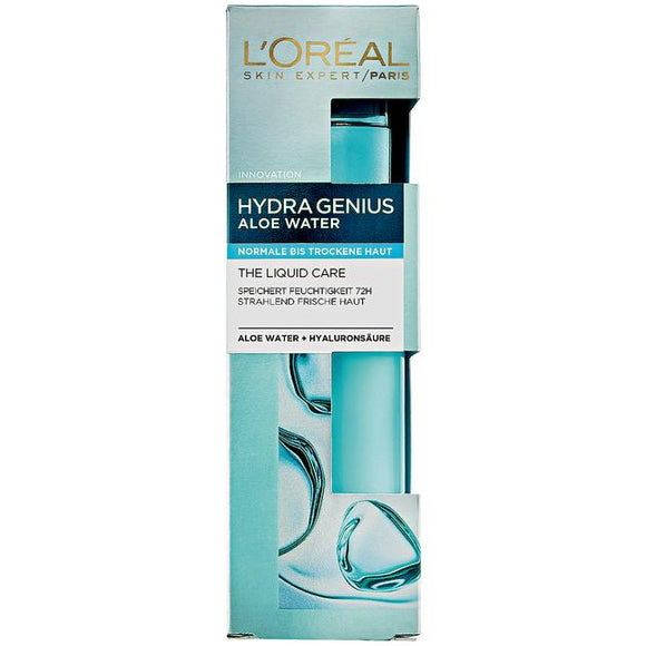 L'Oréal Paris, Hydra Genius Aloe Water: Normal to Dry Skin, 70 ml