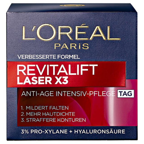 L'Oréal Paris, Revitalift Laser X3 Anti-Age Intensivpflege Tag, 50 ml