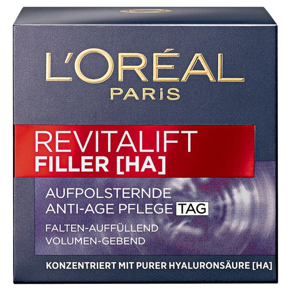 L'Oréal Paris, Revitalift Filler [HA] Aufpolsternde Anti-Age Pflege Tag, 50 ml