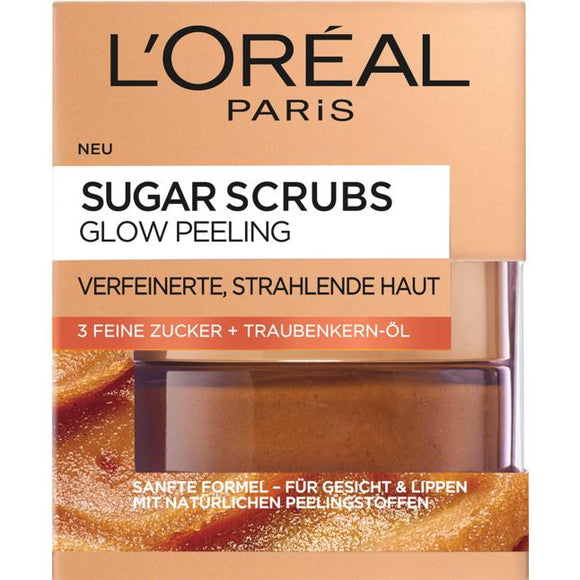 L'Oréal Paris, Sugar Scrubs Peeling: Glow Peeling, 50 ml