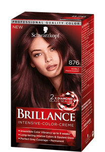 Brillance by Schwarzkopf, Thuốc nhuộm Intensiv Color Creme: Noble Mahagony (Color Code: 876), One Application