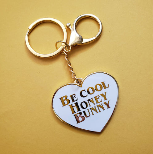HONEY BUNNY PULP FICTION KEYCHAIN - White/Gold variant