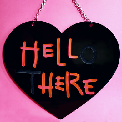 HELL HERE - Catwoman wall art sign (BLACK)