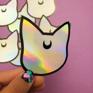 LUNA SILVER HOLO SAILOR MOON STICKER