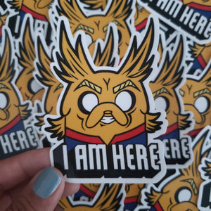 Jake x All Might Vinyl Sticker