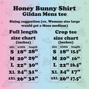 HONEY BUNNY Pulp Fiction Crop Shirt
