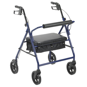 "Drive Bariatric Rollator Rolling Walker with 8"" Wheels- Blue"