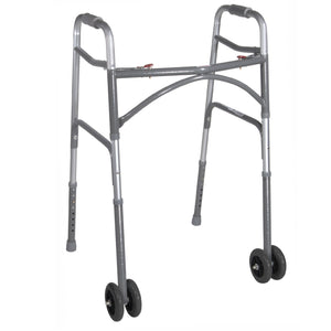 Drive Heavy Duty Bariatric Two Button Walker with Wheels