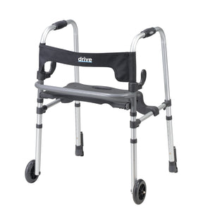 Drive Clever Lite LS Walker Rollator with Seat and Push Down Brakes