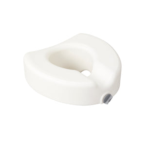 Drive Premium Plastic Raised Toilet Seat with Lock- Elongated
