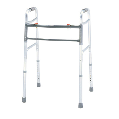 Merits Bariatric Aluminum Folding Two Button, 2/ctn W140 Walker - Liberty Medic