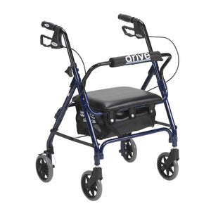 Drive Junior Rollator Rolling Walker with Padded Seat- Blue