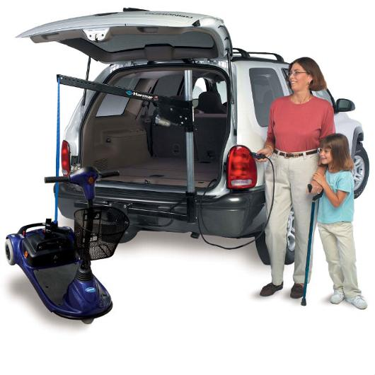 Harmar - AL065 - Universal Inside-Outside Wheelchair and Scooter Lift