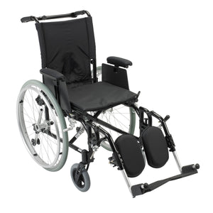 "Drive Cougar Ultra Lightweight Rehab Wheelchair- Elevating Leg Rests- 16"" Seat"