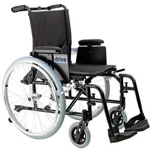 "Drive Cougar Ultra Lightweight Rehab Wheelchair- Swing away Footrests- 16"" Seat"