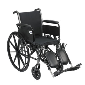 "Drive Cruiser III Light Weight Wheelchair with Flip Back Removable Arms- Full Arms- Elevating Leg Rests- 16"" Seat"
