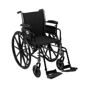 Drive Cruiser III Light Weight Wheelchair with Flip Back Removable Arms- Adjustable Height Desk Arms- Swing away Footrests- 20""