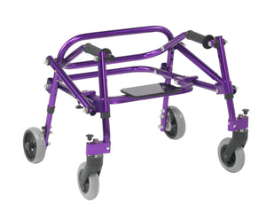Drive Nimbo 2G Lightweight Posterior Walker with Seat- Extra Small- Wizard Purple