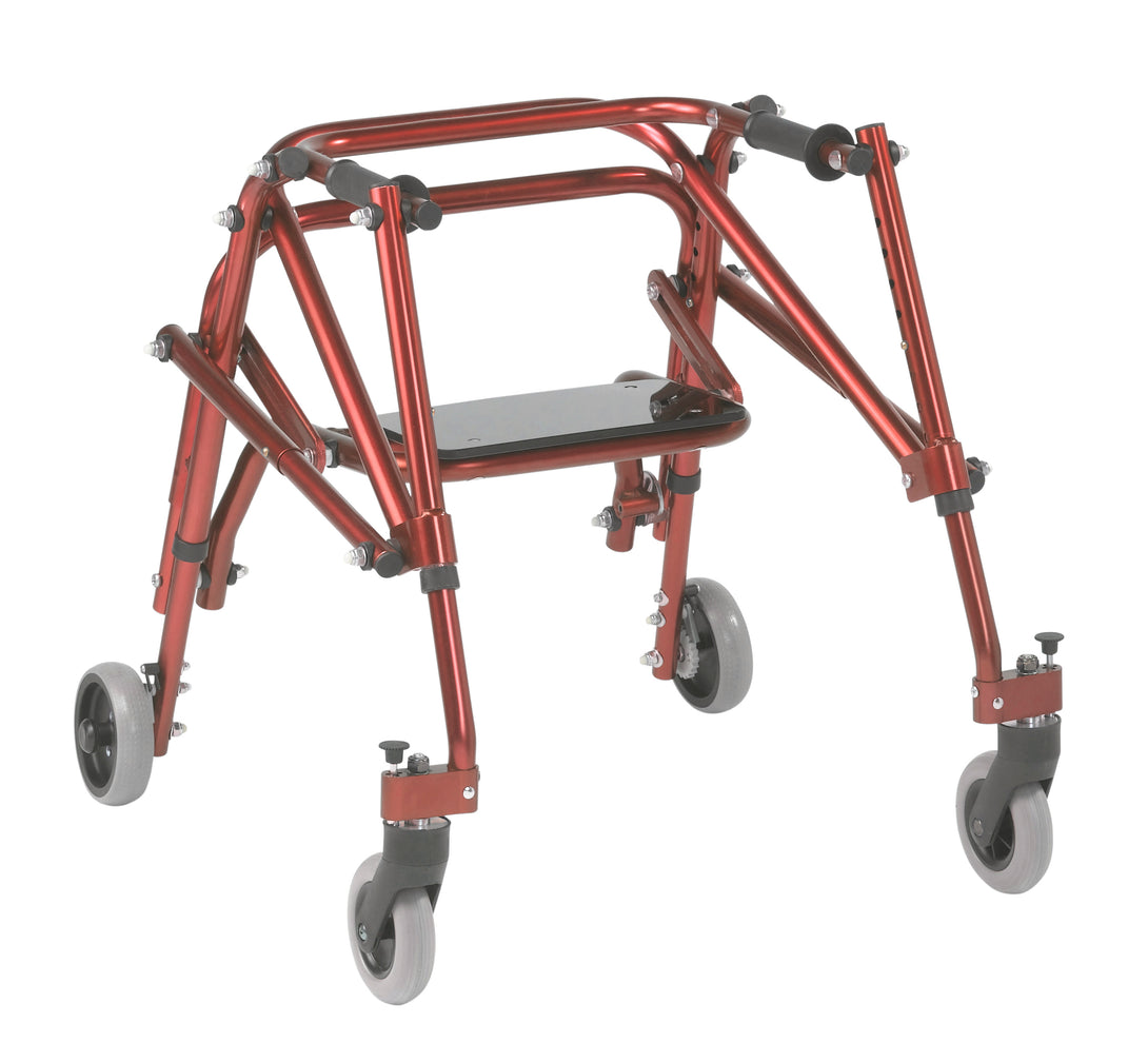 Drive Nimbo 2G Lightweight Posterior Walker with Seat- Small- Castle Red